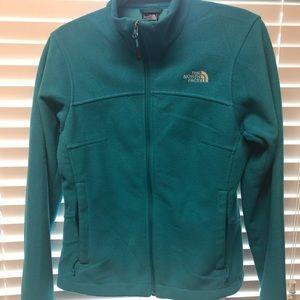 Small Turquoise fleece North Face jacket. EUC.